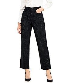 INC High-Rise Embellished Straight-Leg Jeans, Created for Macy's