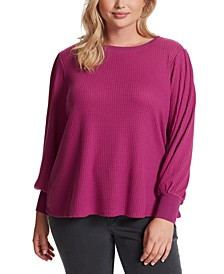 Trendy Plus Size Puff-Sleeve Top
