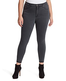 Trendy Plus Size Gray Skinny Jeans