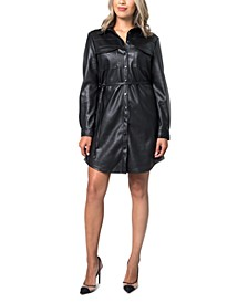 Pleather Shirtdress