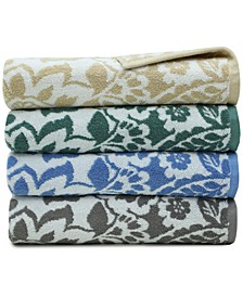 Elite Cotton Scroll Paisley Bath Towel Collection, Created for Macy's