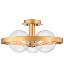 "Lerryn 17"" 3-Light Indoor Ceiling Light with Light Kit"
