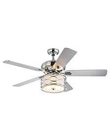"Moira 52"" 3-Light Indoor Remote Controlled Ceiling Fan with Light Kit"