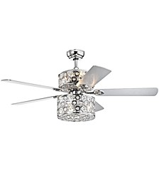 "Zie 52"" 6-Light Indoor Remote Controlled Ceiling Fan with Light Kit"