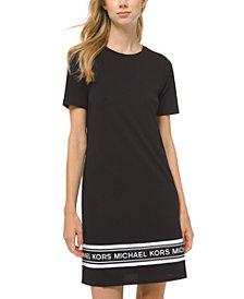 Michael Michael Kors Plus Size Logo T-Shirt Dress