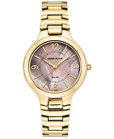 Women's Solar Gold-Tone Bracelet Watch 32.5mm