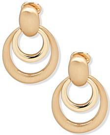 Gold-Tone Doorknocker Clip-On Earrings