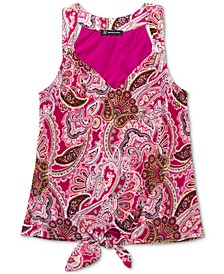 INC Knot-Front Surplice Top, Created for Macy's