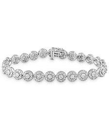 Diamond Halo Tennis Bracelet (7 ct. t.w.) in 10k White Gold
