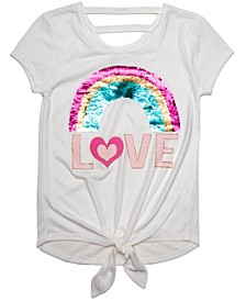 Love Sequin Rainbow SS Tee