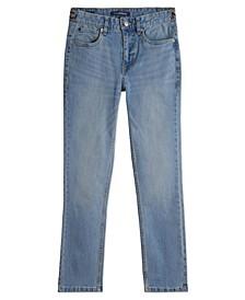 Big Boys Calvin Klein Logo Waistband Skinny Jean