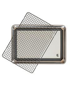 3 Piece Cookie Baking Set - 1 by 2 Sheet, Baking Mat, Cooling Grid