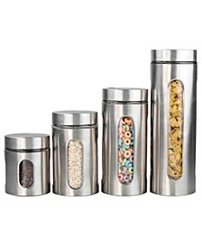 Stainless Steel 4-Pc. Canister Set