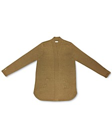 Solid Curved-Hemline Cardigan Sweater, Created for Macy's