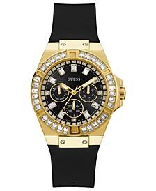 Unisex Black Silicone Strap Watch 39mm