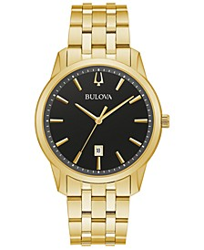 Men's Classic Sutton Gold-Tone Stainless Steel Bracelet Watch 40mm