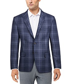 Men's Classic-Fit Ultraflex Stretch Wool Patterned Blazer