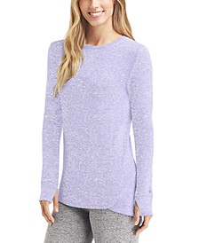 Soft Knit Long-Sleeve Crewneck Top
