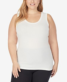 Plus Size Softwear With Stretch Reversible Tank Top