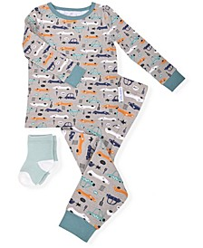 Baby and Toddler Boys 2-Piece Pajama Set with Socks