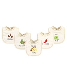 Boys and Girls Taco Bibs, Pack of 5