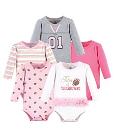 Baby Boys and Girls Tutus Touchdowns Bodysuits, Pack of 5