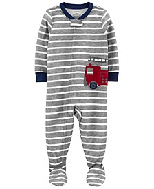Toddler Boys 1-Piece Loose Fit Footie Pajamas