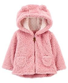 Baby Girl Hooded Sherpa Jacket