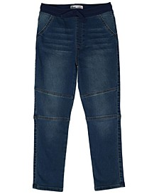 Big Boys Tie Waist Slim Straight Denim Pant