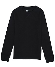 Big Boys Long Sleeve Solid Knit Thermal Tee