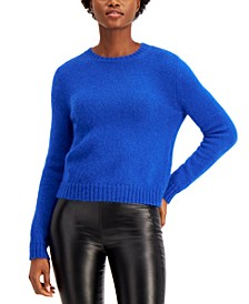 Ribbed-Trim Sweater