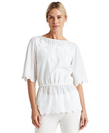 Draped Cotton Top