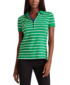 Petite Classic Athleisure-Inspired Polo