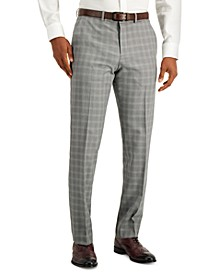 Men's Modern-Fit Subtle Check Performance Dress Pants