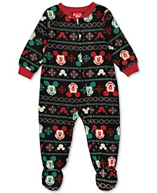 Matching Baby Holiday Mickey & Minnie Family Pajama Set