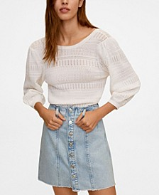 Women's Buttoned Denim Skirt