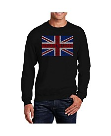 Men's Word Art God Save The Queen Crewneck Sweatshirt