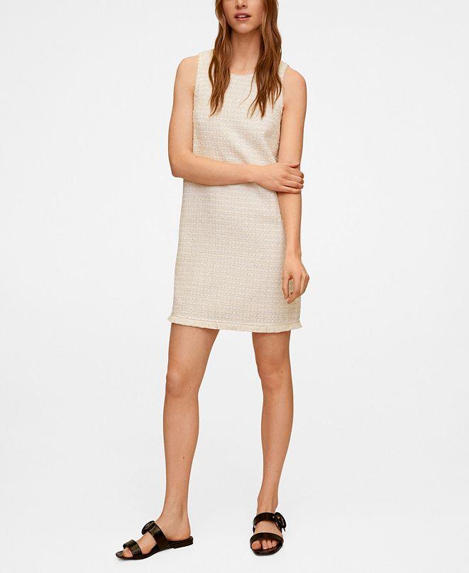 MANGO Women's Tweed Dress