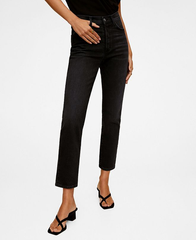 MANGO Women's High Waist Slim Jeans