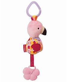 Bandana Buddies Chime Teether Toy - Flamingo