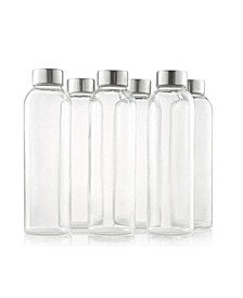 6 Pack Glass 18-Oz. Bottles - with Sleeves and Caps
