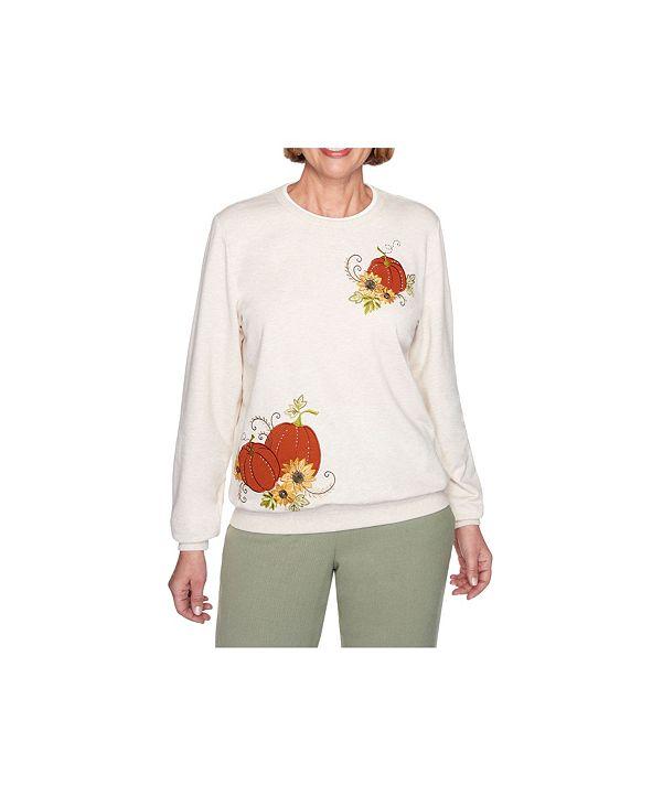 Alfred Dunner Women's Pumpkin Top