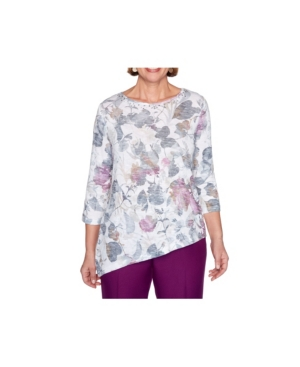 Women's Shadow Floral Knit Top