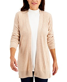 Rib-Knit Open Cardigan, Created for Macy's