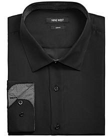 Men's Slim-Fit Performance Stretch Solid Dress Shirt