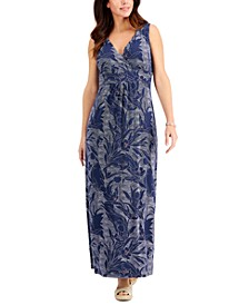 Petite Dotted Floral-Print Maxi Dress, Created for Macy's