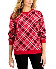Plaid Sweatshirt, Created for Macy's