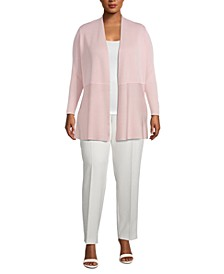 Plus Size Monterey Open-Front Cardigan Sweater