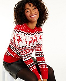 Women's Reindeer Sweater, Created for Macy's