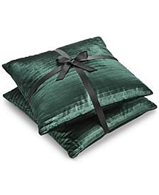 "2-Pk. Velvet Textured Stripe 20"" Square Decorative Pillows"